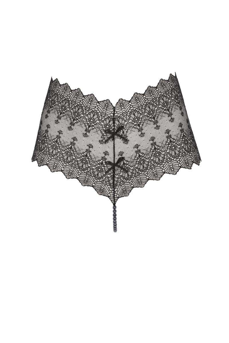 Geneva Panty Dark black front